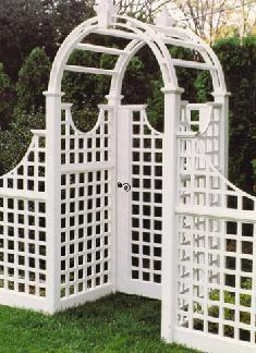 Trellis & Curved Top Garden Gate