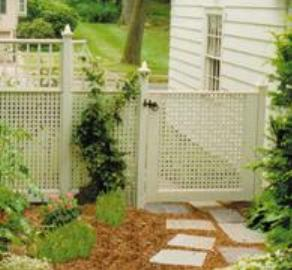 Privacy Lattice Garden Gate