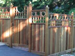 Solid Board Garden Gate