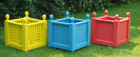Multi-Colored Planter boxes