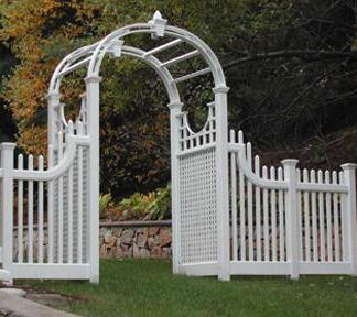 Gooseneck Picket Fence